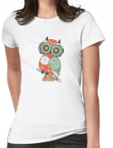 Colorful Cartoon Cute Floral Owl T-Shirt