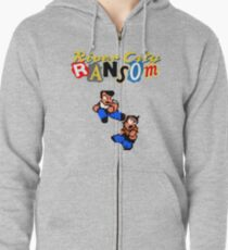 River City Ransom Shirt (Logo w/ 8-Bit Characters) Zipped Hoodie