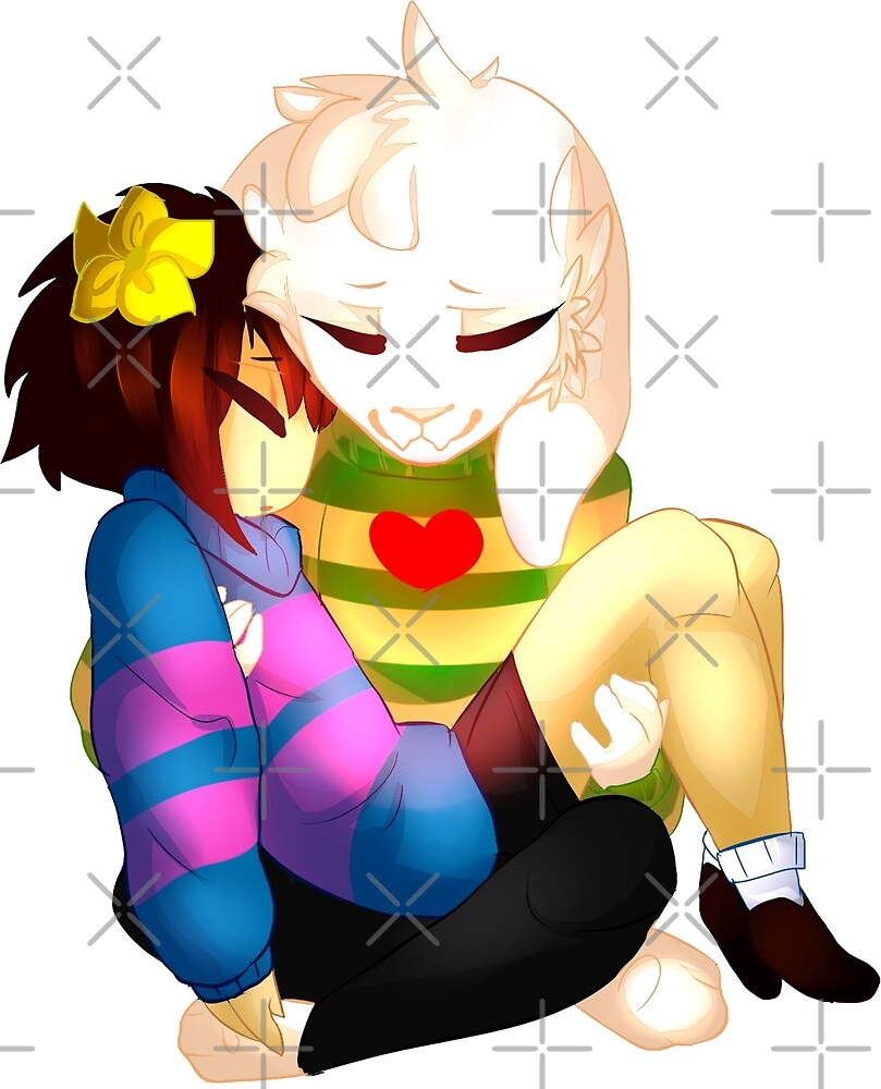 Undertale - Asriel and Human by kieyRevange