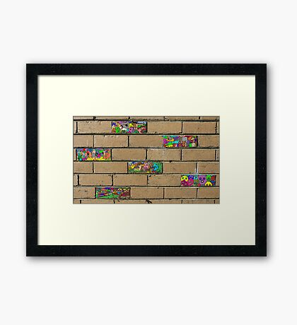 Just another brick in the wall + 5 Framed Print