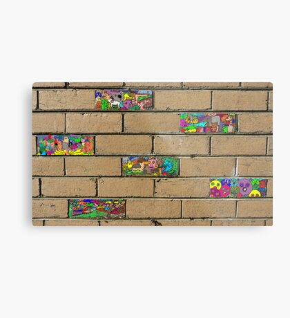 Just another brick in the wall + 5 Metal Print