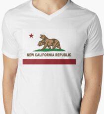 New California Republic Flag Original  Men's V-Neck T-Shirt