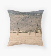 Giraffe Familiy Throw Pillow