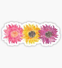 Triple Sunflower  Sticker