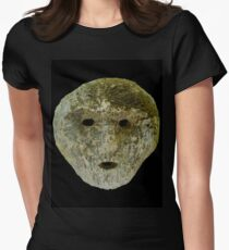 Coral - Timorese Mask Women's Fitted T-Shirt