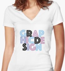 graphic design  Women's Fitted V-Neck T-Shirt