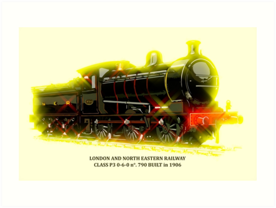 Classic British train locomotive, modern style by aapshop
