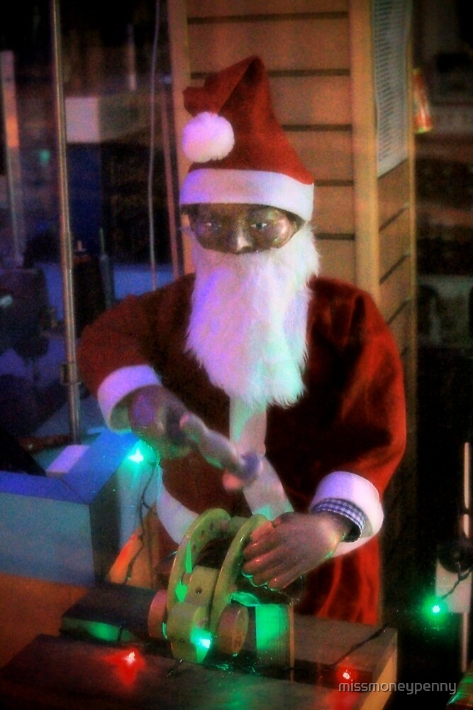 Santa lends a hand in the workshop by missmoneypenny
