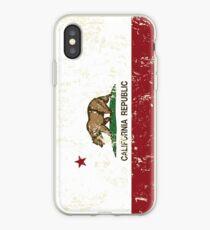 California Republic Grunge Distressed  iPhone Case