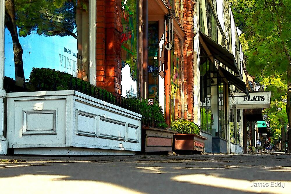 Sidewalk In Saint Helena by James Eddy