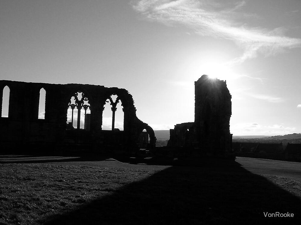 Whitby Abbey, Black & White by VonRooke