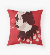 Clown Hates Carnival Throw Pillow