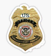 Transportation Security Administration TSA Sticker