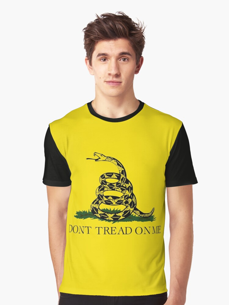 Don't Tread On Me - Libertarian Style Graphic T-Shirt Front