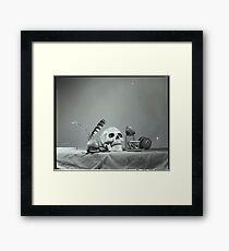 Medium Format: Campy Skull Framed Print