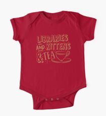 LIBRARIES and kittens and tea (just a few of my favourite things!) One Piece - Short Sleeve