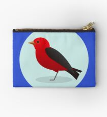 Scarlet Tanager Zipper Pouch