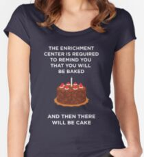 Portal Cake Women's Fitted Scoop T-Shirt