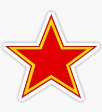 Russian Star Sticker