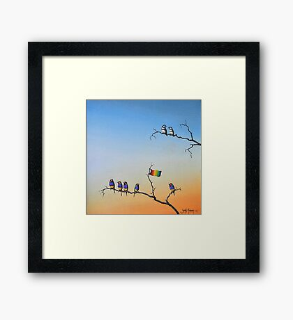 The Hippies Are Here Framed Print