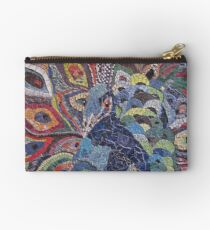 Colorful Peacock Studio Pouch