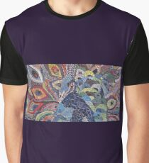 Colorful Peacock Graphic T-Shirt