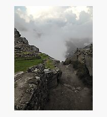 dirty path in the andes Photographic Print