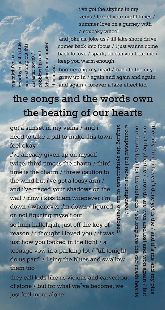 My favorite Fall Out Boy lyrics by infinityonliv