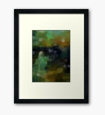 Abstract Nature Landscape Green Framed Print