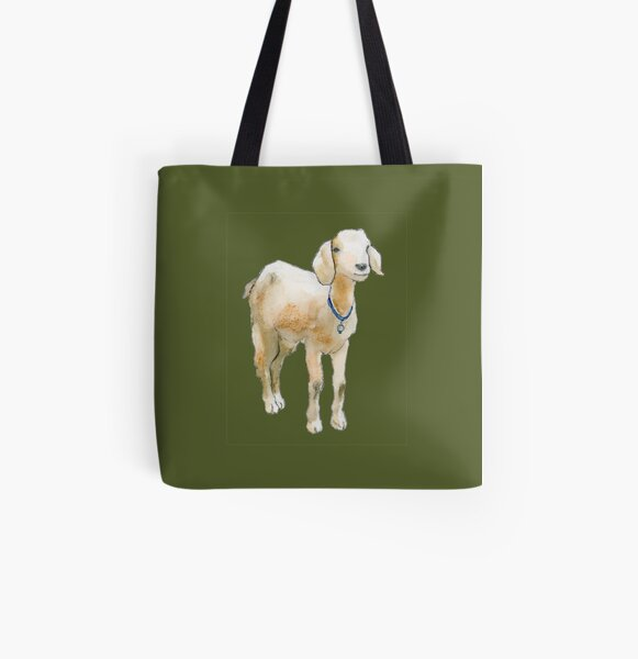 Baby Goat All Over Print Tote Bag