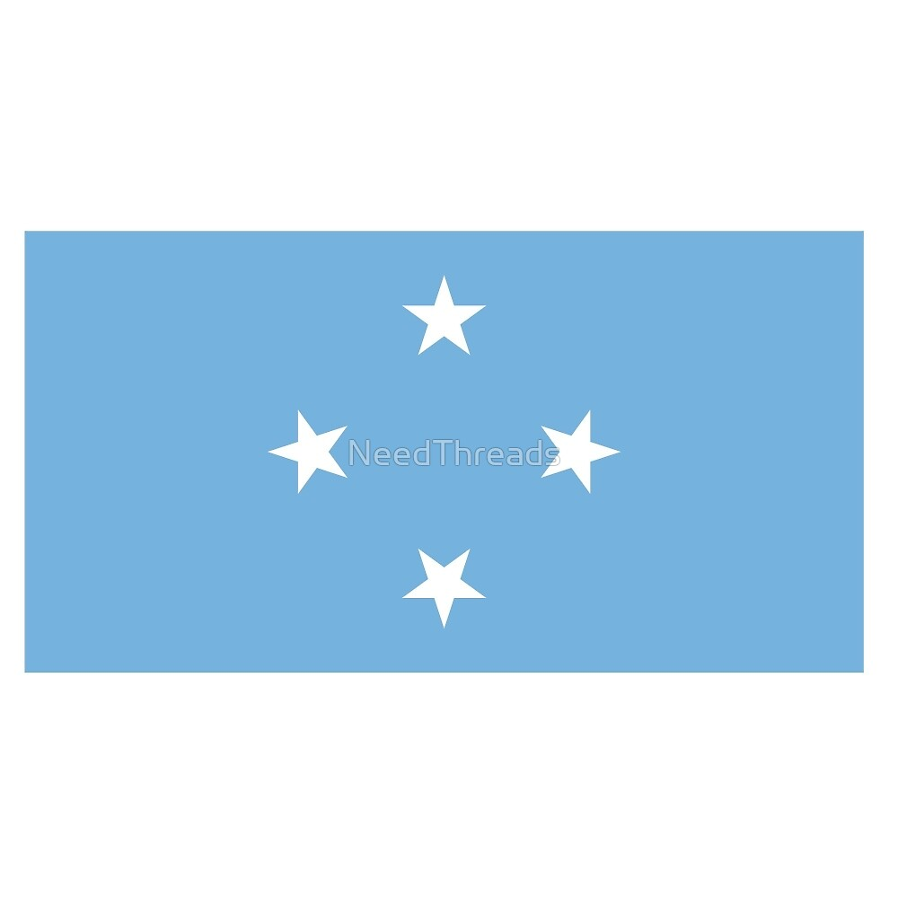 Federated States Of Micronesia Flag by NeedThreads