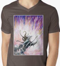 Screaming Mechanoid Cyborg Mens V-Neck T-Shirt