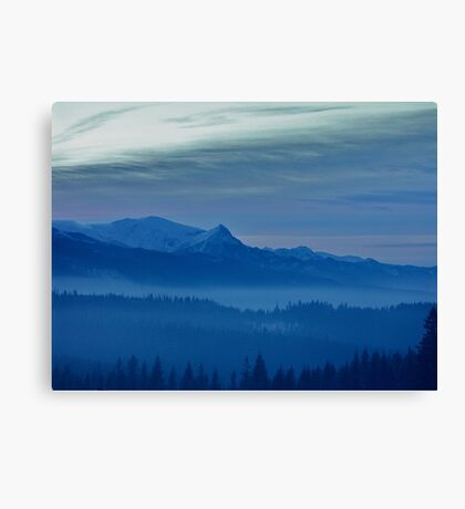 Views 5442 *** Winter landscape  - Tatra Mountains . Poland .  tribute to Gershwin plays Gershwin: Rhapsody in Blue . Made in Andrzej Goszcz .  thanks for viewing !. Canvas Print
