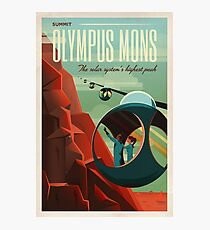 THE VOLCANO OF MARS - Olympus Mons | Space | X | Retro | Vintage | Futurism | Sci-Fi Photographic Print
