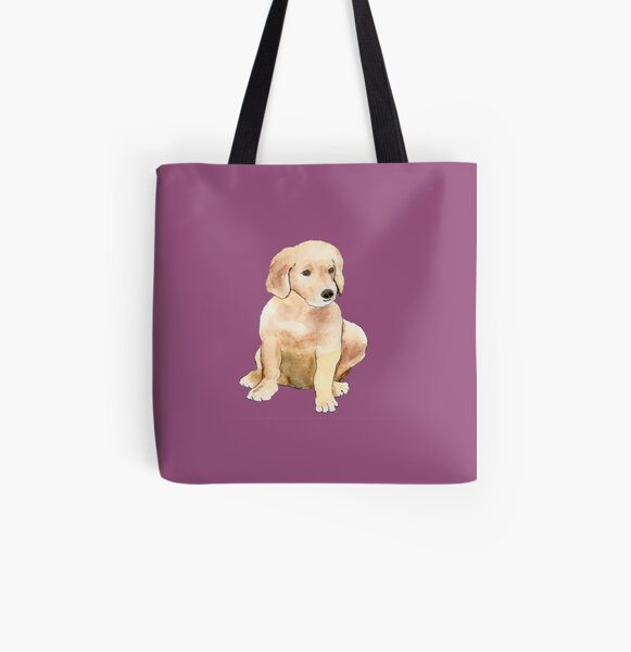 Golden Puppy  All Over Print Tote Bag