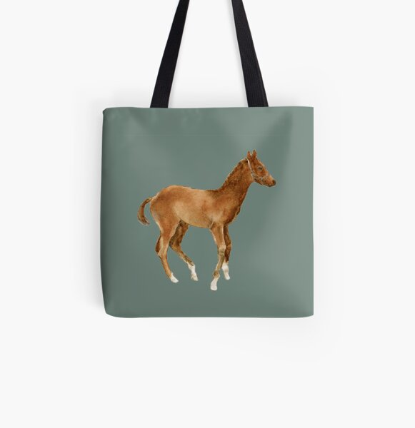 Frisky Foal All Over Print Tote Bag