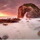 Horse Head Rock Dawn, Bermagui, New South Wales, Australia by Michael Boniwell