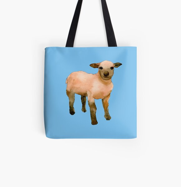 Sweet Little Lamb All Over Print Tote Bag