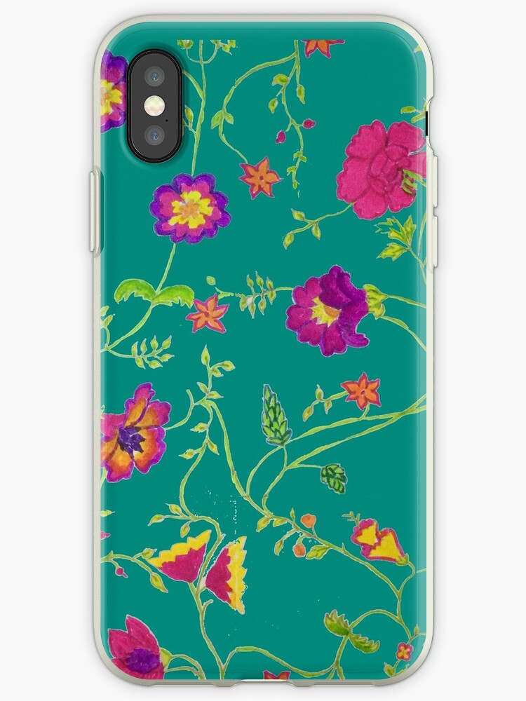 Flowery Design - Teal by defneartun
