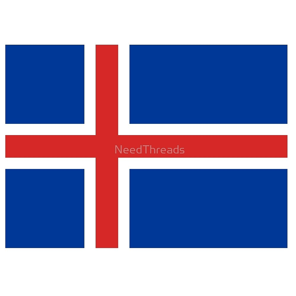 Iceland Flag by NeedThreads