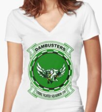 VFA-195 Dambusters Women's Fitted V-Neck T-Shirt