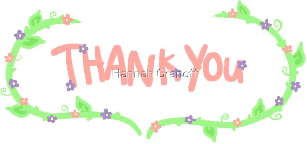 floral thank you card/sticker by Hannah Granoff
