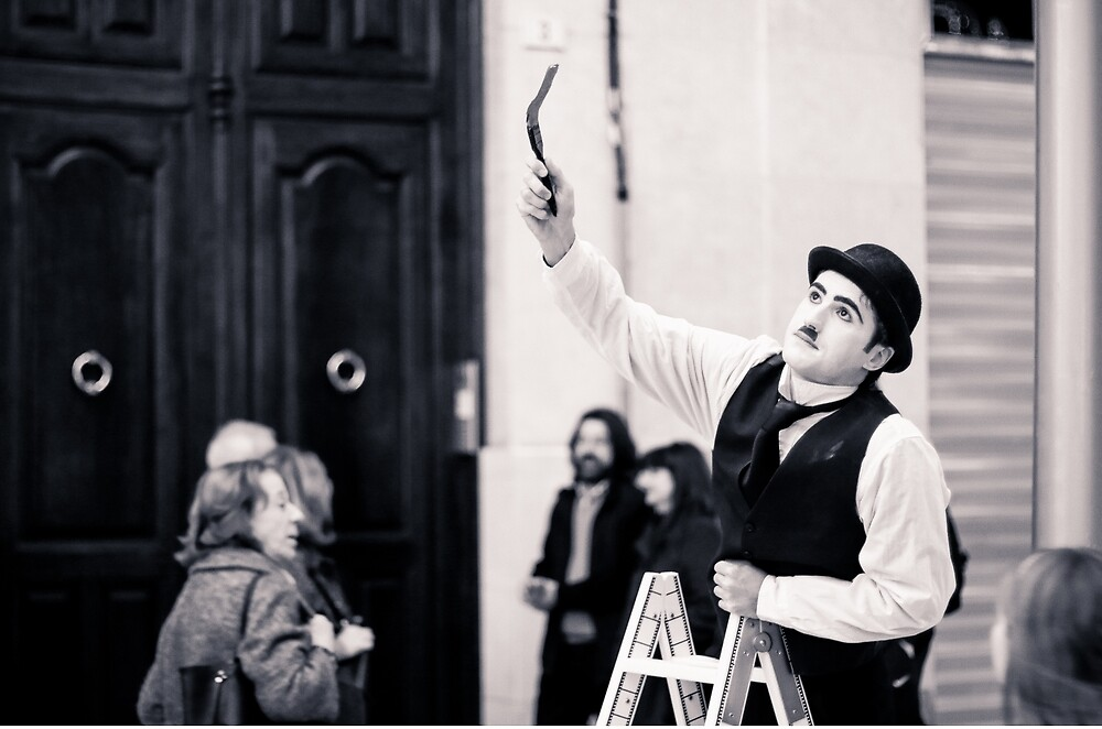 Silent Movie (The Street Performer) by gtcdesign