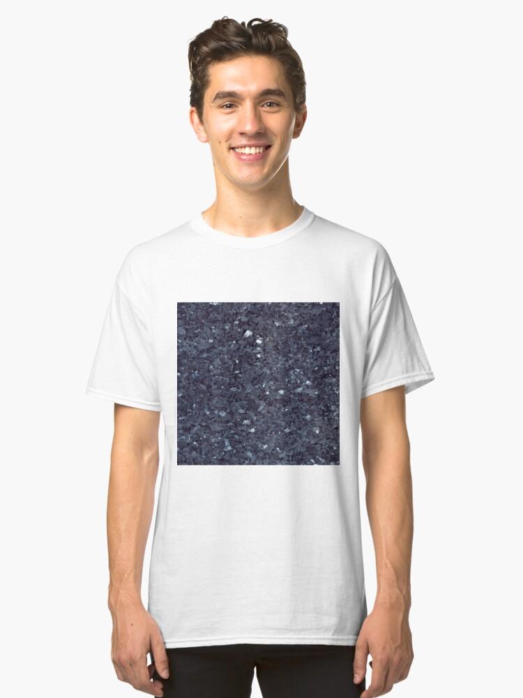 GRANITE BLUE-BLACK 1 Classic T-Shirt Front