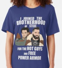 Why I Joined the Brotherhood of Steel Slim Fit T-Shirt