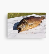 grilled trout Canvas Print