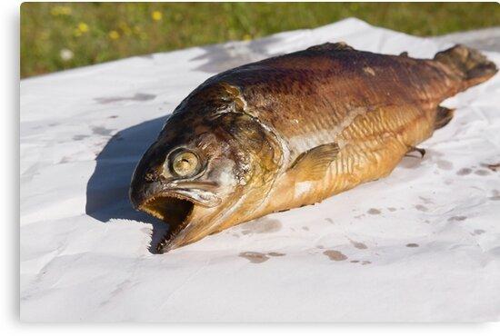 grilled trout by Artur Mroszczyk