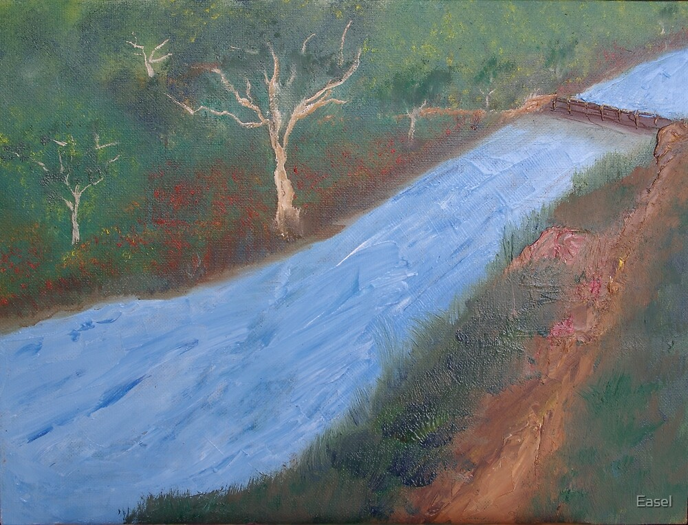 Fast flowing river. by Easel