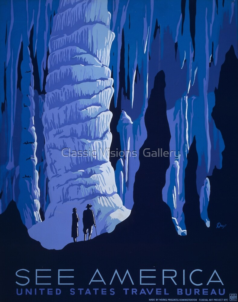 'See America' Vintage Travel Poster (Reproduction) by Roz Abellera