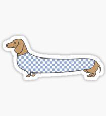 Dachshund in Check  Sticker